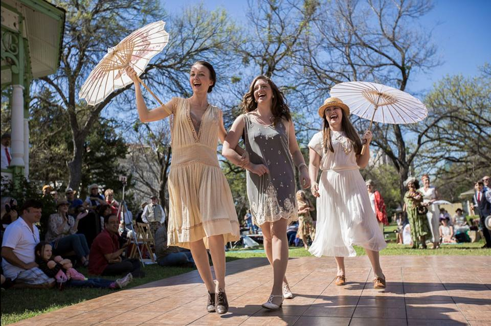 parasol; flappers; Jazz Age Sunday Social
